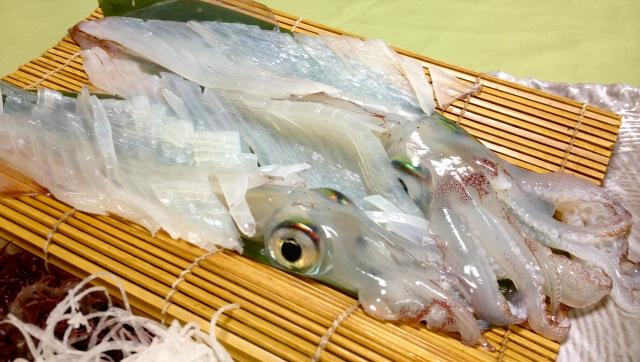 イカを使った料理のレシピのご紹介!新鮮なイカは、刺身に!