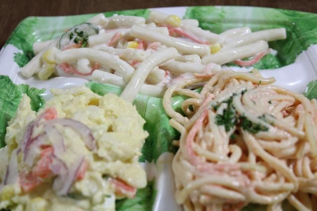 パスタサラダを作る!マヨネーズとカロリーハーフの違いは?